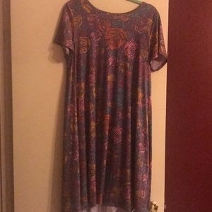 Lularoe Carly dress roses